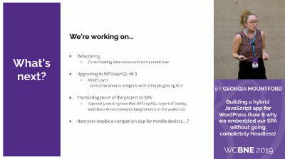 Georgia Mountford: Building a Hybrid JavaScript app for WordPress: Georgia Mountford: Building a Hybrid JavaScript app for WordPress