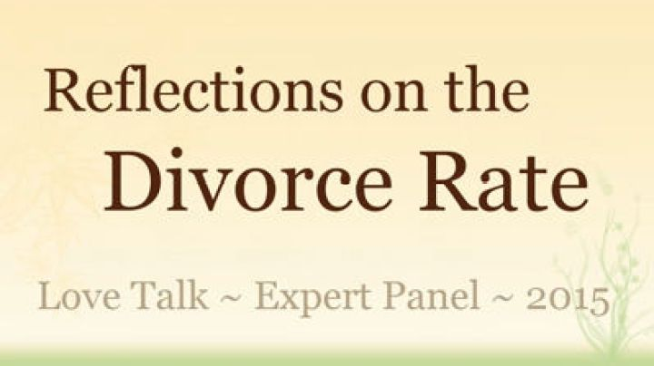 Reflections on the Divorce Rate, Sean Slevin (Love Talk Film Festival, Expert Panel, 2015)