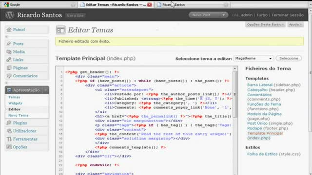 Novidades no Wordpress 2.8