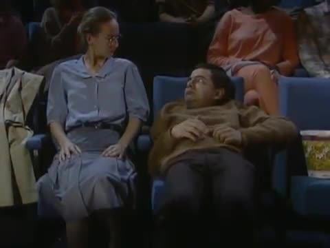 Image result for mr bean movie theatre