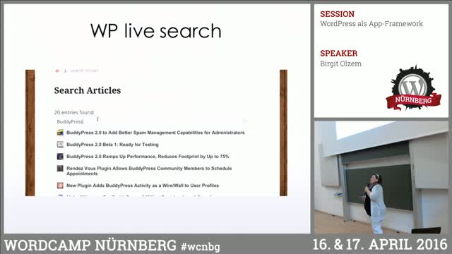Birgit Olzem: WordPress als App-Framework