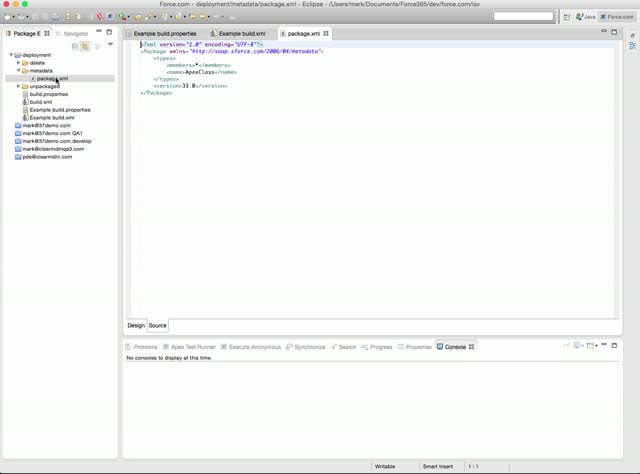 Salesforce Deployment with Ant