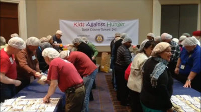 Rotary coordinators come together to help feed hungry children