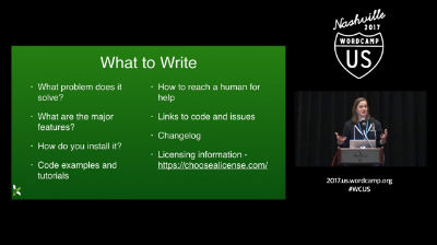 Katherine White: Documentation for Developers