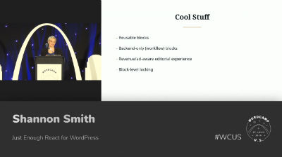 Shannon Smith: Just Enough React for WordPress