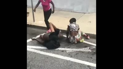 2 Women Jump An Old Head & Pull His Pants Off!