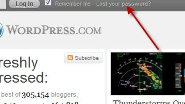 WordPress.com: Recovering or Changing Your Password