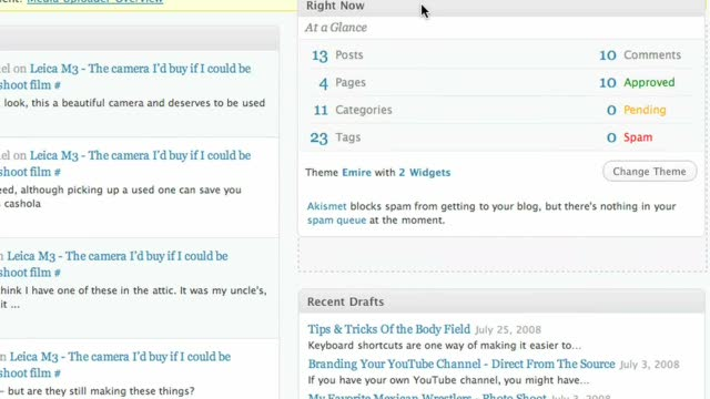 The WordPress.com dashboard - introduction