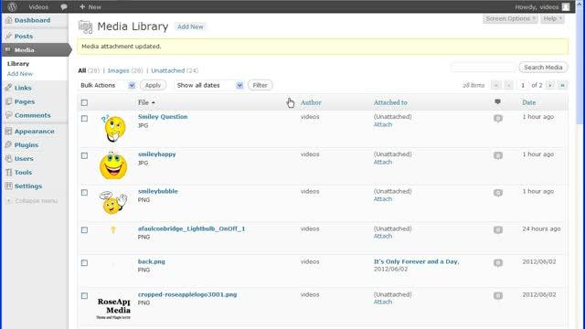 WordPress Media Library