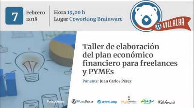 Taller de elaboración del plan económico financiero para freelances y PYMEs