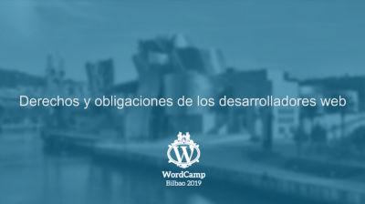 Iñaki Jauregui: Derechos y obligaciones de los desarrolladores web