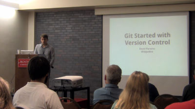 David Parsons: Git Started with Version Control