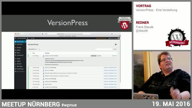 Frank Staude: VersionPress - Eine Einführung
