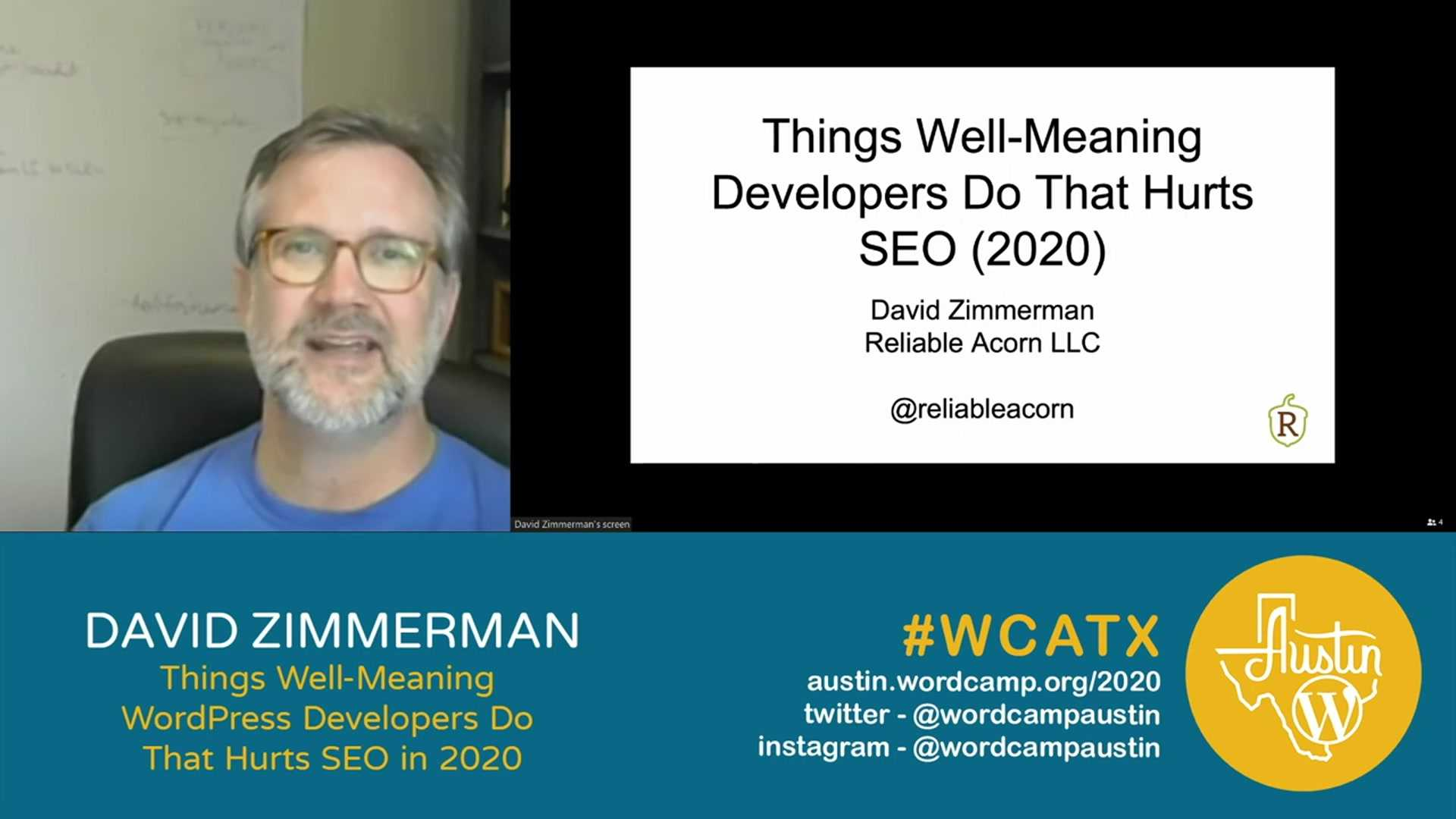 David Zimmerman: Things Well-Meaning WordPress Developers Do That Hurt SEO in 2020