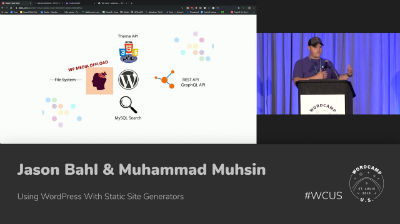 Jason Bahl, Muhammad Muhsin: Using WordPress With Static Site Generators