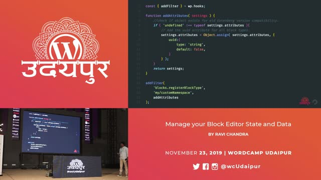 Ravi Chandra: Manage your Block Editor State and Data