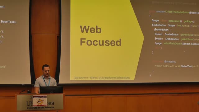 Andrew Taylor: Testing Business Critical Features with Behat