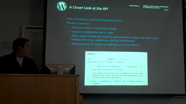 Justin Shreve: Building a Better Search for WordPress