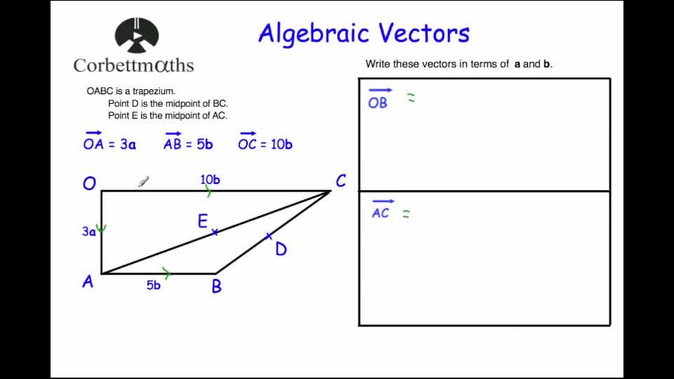 Vectors corbettmaths ccuart Choice Image