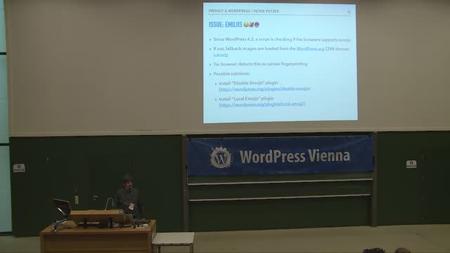 Peter Putzer: Privacy Considerations for WordPress Sites