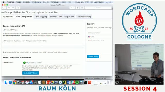Nils Lappenbusch: Active Directory Integration für WordPress