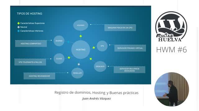 Juan Andrés Vázquez: Registro de dominios, hosting y buenas prácticas