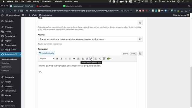 Flavia Bernárdez: Controla tu WordPress con AutomatorWP