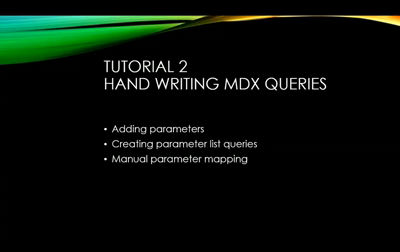 Reporting Services & MDX Queries – Video Tutorials | Paul