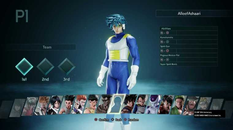 Jump Force Beta Roster All Fighters