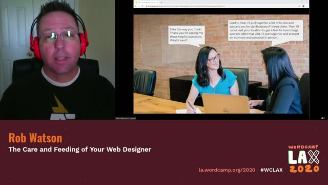 Rob Watson: The Care and Feeding of Your Web Designer