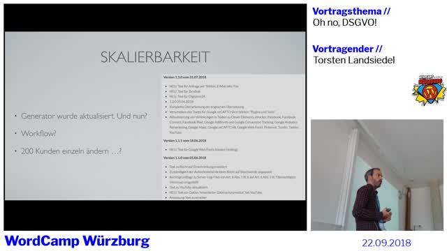 Torsten Landsiedel: Oh, No DSGVO