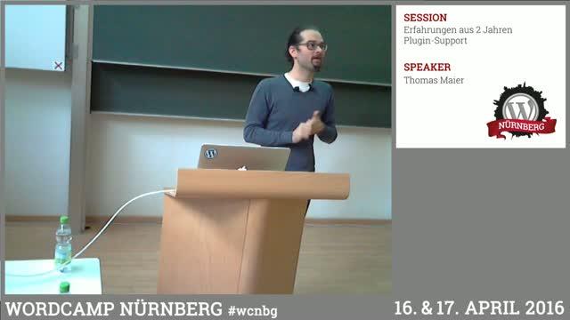 Thomas Maier: Erfahrungen aus 2 Jahren Plugin-Support