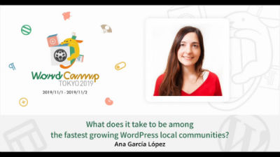 Ana García López: What does it take to be among the fastest growing WordPress local communities?