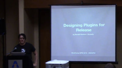 Ronald Huereca: Designing Plugins For Release