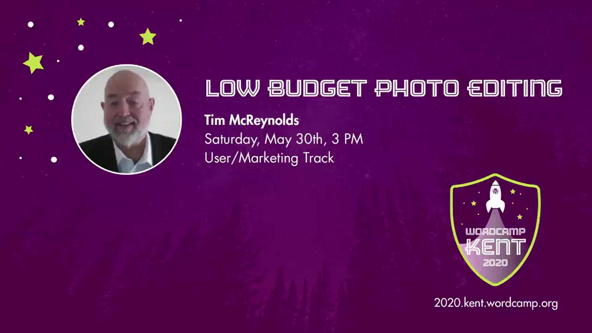 Tim McReynolds: Low Budget Photo Editing