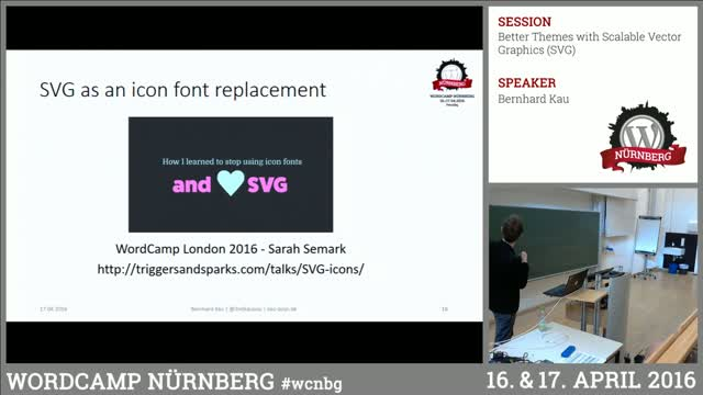 Bernhard Kau: Better Themes with Scalable Vector Graphics (SVG)