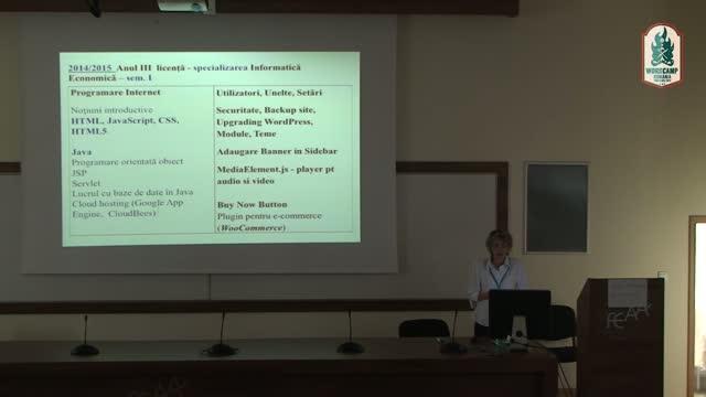 Prof. Dr. Mirela Catrinel Voicu: WordPress se învată şi la facultate