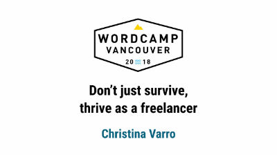 Christina Varro: Don't just survive, thrive as a freelancer