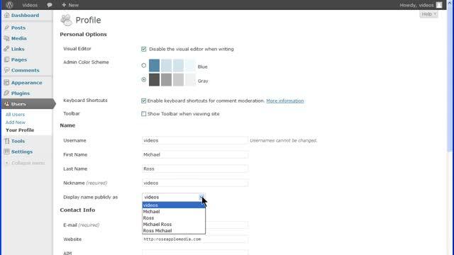 WordPress Your Profile