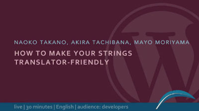 How To Make Your Strings Translator-Friendly