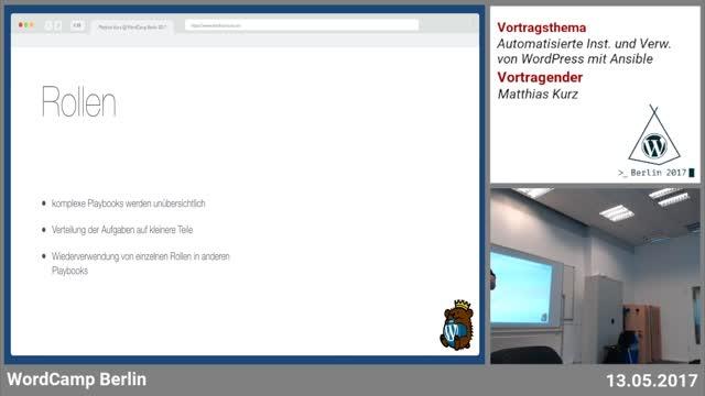 Matthias Kurz: Automatisierte Installation und Verwaltung von WordPress mit Ansible