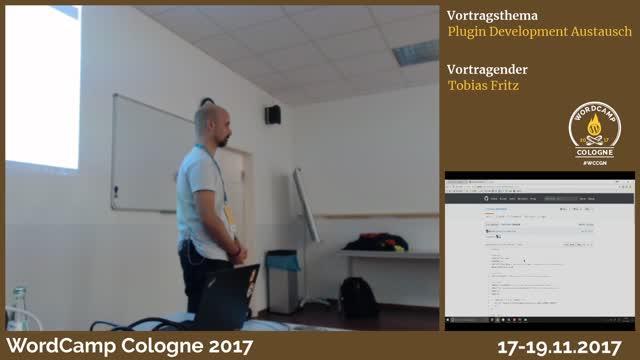 Tobias Fritz: Plugin Development Austausch