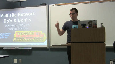 Taylor McCaslin: Multisite Network Do's and Don'ts – Experience from Some Enterprise Solutions