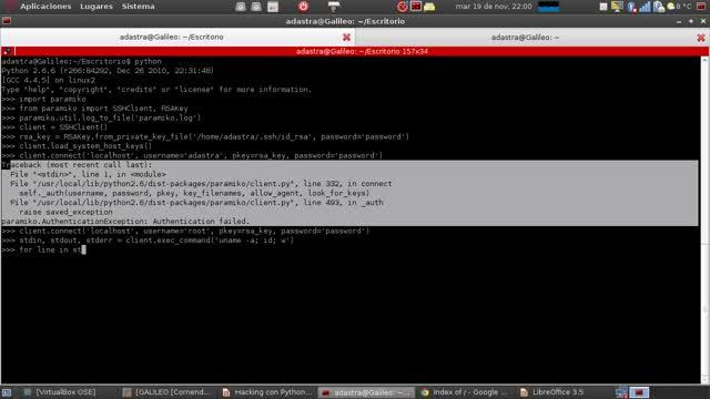 Hacking con Python Parte 20 – Controlando servidores SSH con