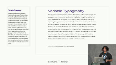 Ana Cirujano: Better UX and WPO using variable fonts in WordPress