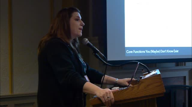 Nicole Arnold: Core Functions You (Maybe) Don't Know Exist