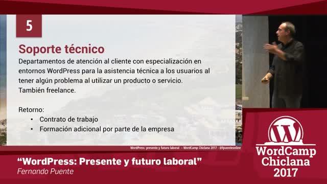 Fernando Puente: WordPress: Presente y futuro laboral