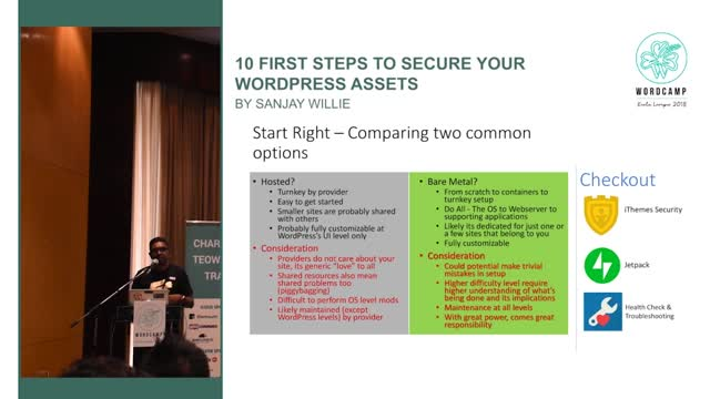 Sanjay Willie: 10 First Steps To Secure Your WP Assets