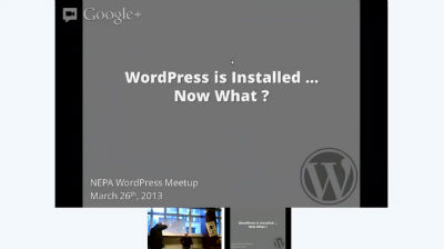 Phil Erb: WordPress is Installed... Now What?