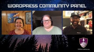 Andrea Middleton, Michelle Frechette, Joe A. Simpson Jr.: WordCamp Kent 2020 Community Panel